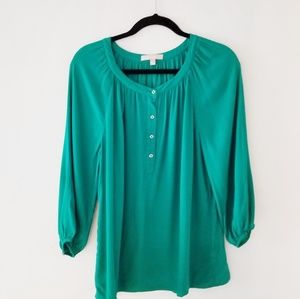 Banana Republic  emerald green top.